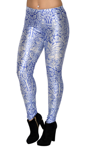 Blue And White Brer Rabbit Leggings Design 295