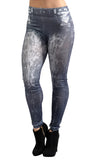 Black Faded Denim Jeans Leggings Design 30