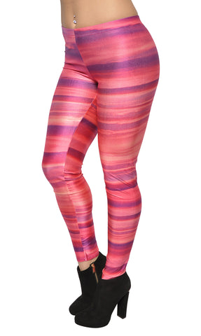 Galaxy Pink Rings Leggings Design 218