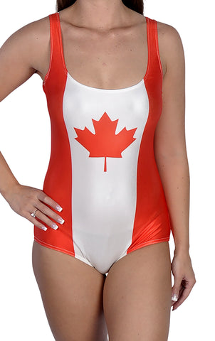 Canadian Flag One-Piece Swimsuit Design 5022