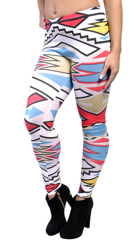 Colorful Tribal Leggings Design 559