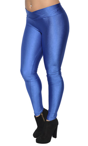 Royal Blue V-waist Leggings Design 321