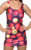 Strawberries Sleeveless Mini Dress Design 3030