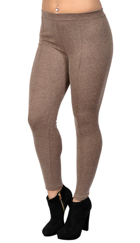 Brown Middle Line Leggings Design 48