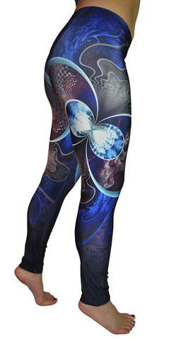 Fractal Print Leggings Design 535