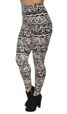 Black and White Tribal Leggings Design 211