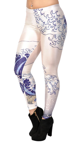 Great Wave Leggings Design 36