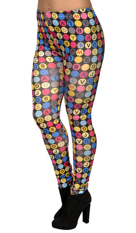 Scrabble Leggings Design 82