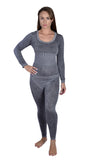 Women's Butterfly Theme Thermal Underwear Medium Gray