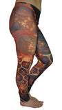Fractal Print Leggings Design 530