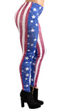 Distressed USA Flag Leggings Design 265