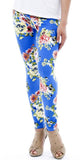 Blue Floral Leggings Design 154