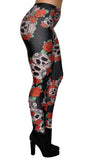 Skulls And Roses Leggings Design 653