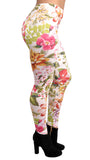 Colorful Floral Leggings Design 636