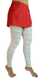 White Sheer Knit Leggings Design 56