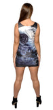 Death Star Knee Sleeveless Mini Dress Design 3075