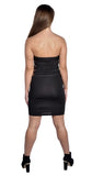 Black Strapless Side Cutout Mini Dress Design 3045