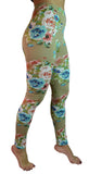 Khaki Floral Leggings Design 152