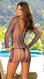 Rainbow Beach Lingerie Dress Design 7001