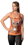 Orange Monster Tank Top Design 13022