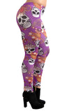 Purple Skulls and Jewelry Leggings Design 196