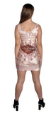 Marauder's Map Sleeveless Mini-Dress Design 3036