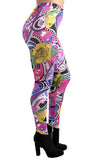 Acid Trip Abstract Art Leggings Design 94