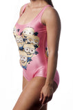 Minions Pink One-Piece Women's Swimsuit Design 5002