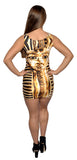 King Tut Above Knee Sleeveless Mini Dress Design 3084