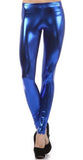 Electric Blue Wet Look Leggings Design 159