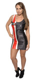 Black and Red N7 Sleeveless Mini Dress Design 3039
