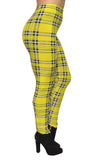 Yellow Plaid Leggings Design 122