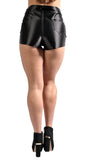 Black Disco Shorts Design 8002