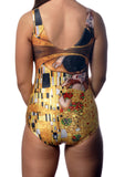 Oil Painting One-Piece Swimsuit Design 5027