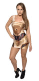 C3PO Sleeveless Mini-Dress Design 3016