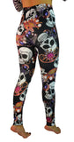 Black Skulls and Jewelry Leggings Design 176