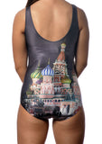 Moscow St Basil Cathedral One-Piece Swimsuit Design 5020