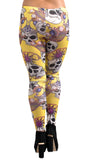 Yellow Skulls and Jewelry Leggings Design 181