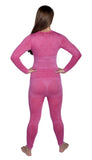 Women's Butterfly Theme Thermal Underwear Medium Pink
