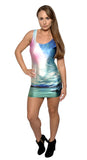Mountain Lake Above Knee Sleeveless Mini Dress Design 3094