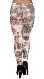 Colorful Floral Leggings Design 388