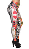 Queen of Hearts Leggings Design 678