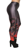 Engulfed in Flames Leggings Design 611