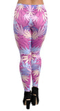 Pink Cannabis Leggings Design 635
