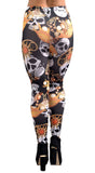 Black and Gold Skulls and Jewelry Leggings Design 195