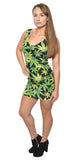 Cannabis Sleeveless Mini Dress Design 3015