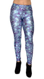 Blue Vines Leggings Design 459