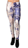 Mucha Black Leggings Design 40