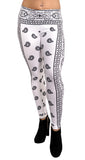 Black and White Amoeba Leggings Design 554
