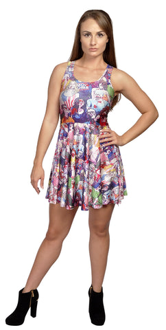 Zombie Nation Sleeveless Mini-Dress Design 3064